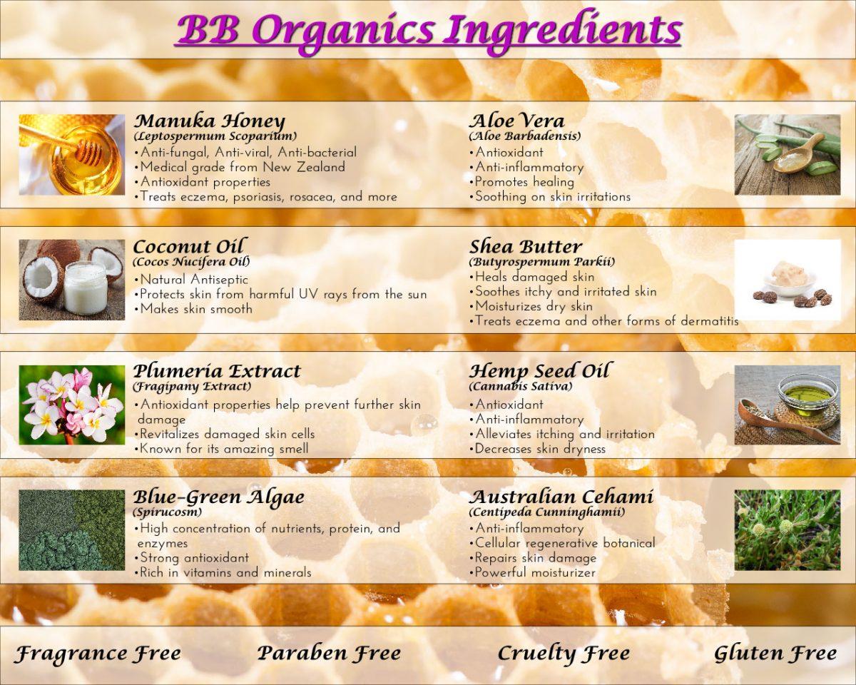 BB Organics Ingredients